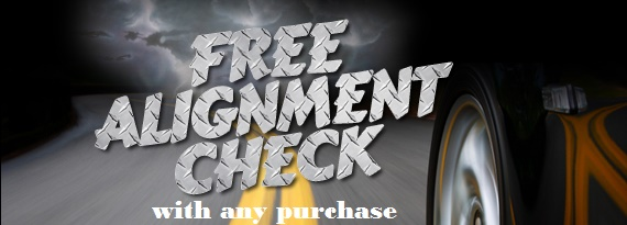 Free Alignment check w/ purchase Kentville, NS
